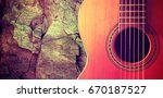 spanish guitar and music... | Shutterstock . vector #670187527
