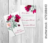 invitation or greeting card... | Shutterstock .eps vector #670188643