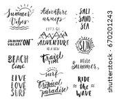 travel lifestyle motivational... | Shutterstock . vector #670201243