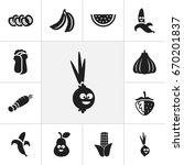 set of 12 editable vegetable...