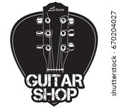 guitar neck icon with guitar... | Shutterstock .eps vector #670204027