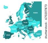 political map of europe... | Shutterstock .eps vector #670207873