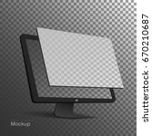 computer display with blank... | Shutterstock .eps vector #670210687