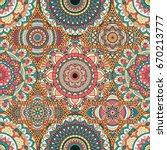 patchwork pattern. vintage... | Shutterstock .eps vector #670213777