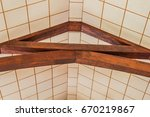 Wooden Beams In The Ceiling Of...