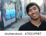man with a very nice toothy... | Shutterstock . vector #670219987