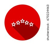5 star icon vector illustration ... | Shutterstock .eps vector #670224463