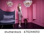sexy lady wear clothes for... | Shutterstock . vector #670244053
