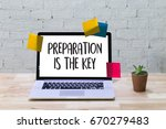 Small photo of PREPARATION IS THE KEY plan BE PREPARED concept just prepare to perform