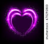 shiny heart shaped frame on... | Shutterstock .eps vector #670292803