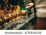 bartender making alcoholic...   Shutterstock . vector #670314133