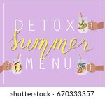 vector illustration of detox... | Shutterstock .eps vector #670333357