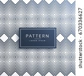 modern zig zag line pattern... | Shutterstock .eps vector #670336627
