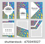 abstract vector layout... | Shutterstock .eps vector #670345027