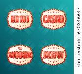 casino  jackpot  the winner ... | Shutterstock .eps vector #670346647