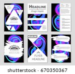 abstract vector layout... | Shutterstock .eps vector #670350367