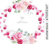 Romantic Wedding Floral Vector...