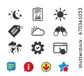 weather icons. moon and stars...