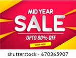 mid year sale banner template   Shutterstock .eps vector #670365907