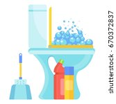 white home clean hygienic... | Shutterstock .eps vector #670372837