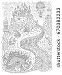 fantasy landscape. fairy tale... | Shutterstock .eps vector #670382233