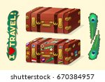 vector cartoon objects... | Shutterstock .eps vector #670384957