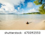 scenic tropical view of white... | Shutterstock . vector #670392553