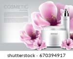 cosmetic products with pink... | Shutterstock .eps vector #670394917