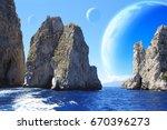 Landscape Of Fantasy Planet  ...