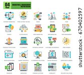 flat conceptual icons pack... | Shutterstock .eps vector #670402597