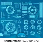 abstract future  concept vector ... | Shutterstock .eps vector #670404673