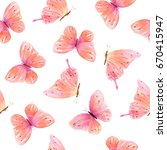 watercolor seamless pattern... | Shutterstock . vector #670415947
