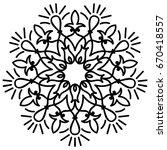 flower mandala. decorative... | Shutterstock .eps vector #670418557