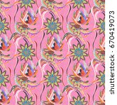 elegance seamless pattern with...   Shutterstock . vector #670419073