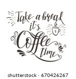 hand drawn lettering quote for... | Shutterstock . vector #670426267