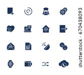simple different icons  pbx ... | Shutterstock .eps vector #670438093