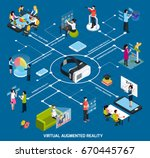 virtual augmented reality 360... | Shutterstock .eps vector #670445767