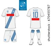 set of short sleeve soccer...   Shutterstock .eps vector #670455787