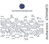 futuristic cybernetic scheme ... | Shutterstock .eps vector #670456873