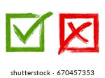 tick and cross signs  approval... | Shutterstock .eps vector #670457353