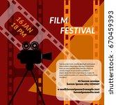 cinema festival poster template ... | Shutterstock .eps vector #670459393