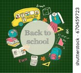 back to school banner template... | Shutterstock .eps vector #670459723