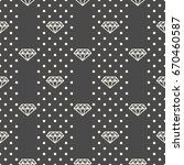 seamless pattern with diamonds... | Shutterstock .eps vector #670460587