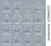 abstract 3d math geometric... | Shutterstock .eps vector #670464217