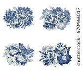 flower set | Shutterstock .eps vector #670466017
