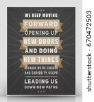 vintage inspirational and... | Shutterstock .eps vector #670472503