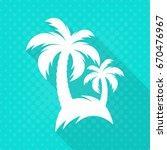 white vector palm trees flat...   Shutterstock .eps vector #670476967