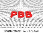 pbb in the form of binary code  ... | Shutterstock . vector #670478563