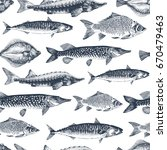 fish seamless vector pattern.... | Shutterstock .eps vector #670479463