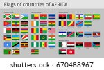 africa flags big set. travel... | Shutterstock .eps vector #670488967